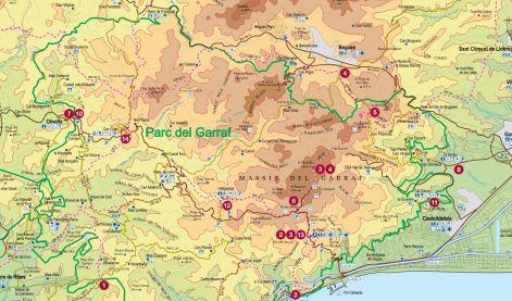 Mapa del parc