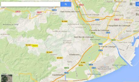 Mapa per arriabar a Begues